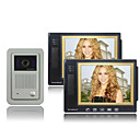 Video Door Phone Kit (8.3 Inch Color LCD Screen, 2 Indoor Screen)