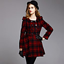 TS Double Button Ruffle Pea Coat