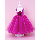 Fabulous Ball Gown Tull Over Satin Flower Girl Dress