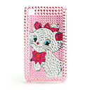 Protective Back Case with Crystals for iPhone 3G/3GS (Marie)