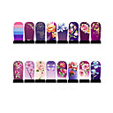 12st nail art folie armor wraps patch stickers-paars-serie