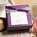 Personalized Purple Favor Box With Double Bow (Set of 24)