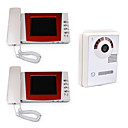 4 Inch Handset Color Video Door Phone 8 IR LED (1 Camera + 2 Monitor)