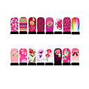 12st nail art folie armor wraps patch stickers-roze-serie