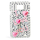 Stylish I LOVE YOU Pattern Protective Case with Crystal for Samsung i9100