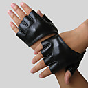 Faux Leather Half Finger Wrist Length Party Gloves