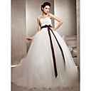 Ball Gown Sweetheart Tulle Chapel Train Wedding Dress inspired by Kate Huds in Bride Wars