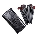 24Pcs Professional Makeup Brush With Perfect Style Black Case - Worthy