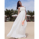 Empire Sheath/Column Floor-length Chiffon Wedding Dress