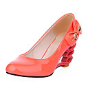 Patent Leather Cutout Wedge Heel Pumps (More Colors)