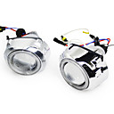G241 Angel Eyes Xenon Headlights with Projector Lens, 2Pcs