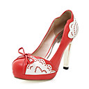 Leatherette Stiletto Pumps With Lace Print For Party/Evening (More Colors)