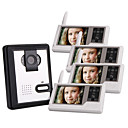Four 2.4GHz Wireless 3.5 Inch Touch Screen Monitors Video Door Phone with Camera