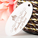 Personalized Oval Favor Tag – Crown (Set of 60)