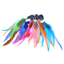 5 Pcs Clip In Colorful Feather Hair Extensions - 10 Colors Available