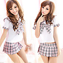 School Girl Pink Pattern Polyester Sailor Suit (3 Pieces)