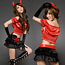 Evil Series Red Horns Polyester Sexy Uniform (3 Pieces)