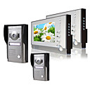 Two 7 Inch Monitor  Color Video Door Phone System (2 Alloy Weatherproof Cover Camera)