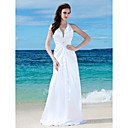 Sheath/Column Halter Floor-length Elastic Silk-like Satin Wedding Dress