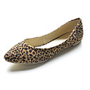 Suede Low Heel Closed Toe Animal Print Shoes (More Colors)