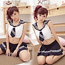 Super Fascinated Black Polyester Sailor Suit (3 Pieces)