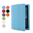 Tynd Soft Smart PU lder Cover Hrd Plastik cover til iPad 2 (blandede farver)