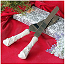  Starfish & Seashell Handle In Refined Ceramic Wedding Cake Knife And Server Set