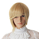 Capless Short Grey Straight Synthetic Party Wig