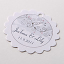 Personalized Scalloped Favor Tag – Pure Love  (Set of 60)