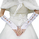 Satin Bridal Gloves With Rhinestone (More Colors)