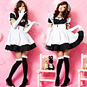 Super Hot Black Polyester Maid Suit (4 Pieces)