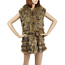 Natural Colour Knit Rabbit Fur Fashion Vest(More Colors)