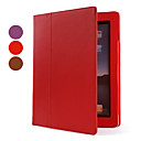 Protective PU Leather Case Cover with Stand for the New iPad (Auto Sleep Function, Assorted Colors)
