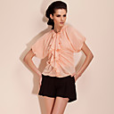 TS Bat Sleeve Ruffle Neckline Blouse Shirt (More Colors)