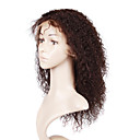 Glue-Less Hand-tied Lace Front Curly 16 Inch Indian Remy Hair Wig