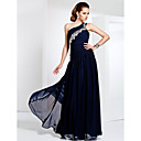 One Shoulder Floor-length Chiffon Evening Dress