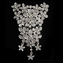 Alloy With Rhinestone And Pearl Flower Bridal Comb