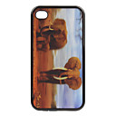 TP9 - Exquisite 3D Animal Pattern Back Cover for iPhone4 and 4s