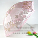 Flower Print Folding UV Umbrella