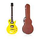 Tak Yellow Les Paul Electric Guitar with Gig Case+Accessories