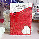 Personalized Simple Design European Style Cutout Heart Wedding Invitation (Set of 60)