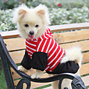 Striped Style Hoodie for Dogs (XS – L, Red)