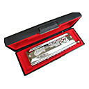 Huang - (112) Professional Chromatic Harmonica C key/12 Holes/48 Tones/Circular Mouthpiece