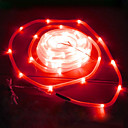 50 LED Red Solar Tube Outdoor Lights Garden Yard Decor