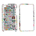 Letters Style Protective Back Case and Bumper Frame for iPod Touch 4