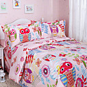 4PCS Happy Forest Full Duvet Cover Set