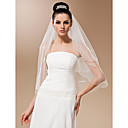 Two-tier Tulle With Applique Elbow Veil (More Colors)