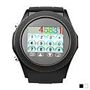 echt lederen horlogeband 1,4 inch touch screen horloge mobiele telefoon (quad-band java bluetooth mp3 mp4)