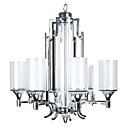 Artistic 8 - Lights Glass Chandeliers with Chrome Finish