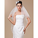 Two-tier Elbow Wedding Veils With Beaded Edge